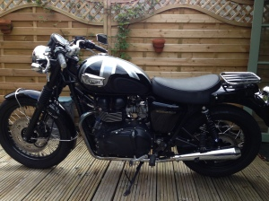 Bonneville M Bars side veiw with no crash bars