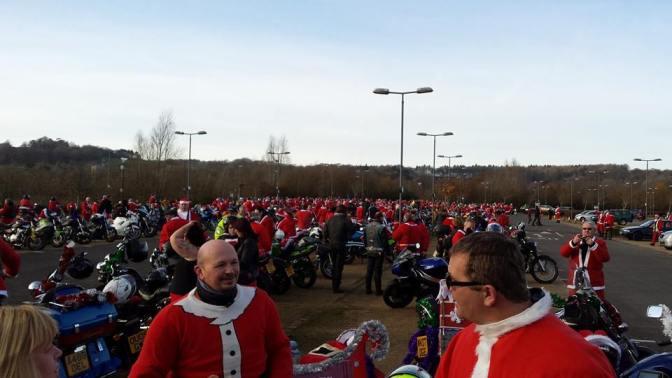 Santa's on a Bike 2014