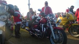 Santa with his Thunderbird..
